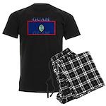 Guam Guaminian Flag Men's Dark Pajamas