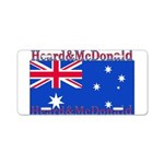 Heard & McDonald Flag Aluminum License Plate