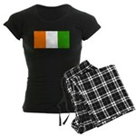 Ivory Coast Blank Flag Women's Dark Pajamas
