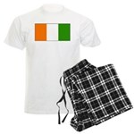 Ivory Coast Blank Flag Men's Light Pajamas