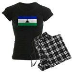 New Lesotho Flag Blank Women's Dark Pajamas