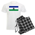 New Lesotho Flag Blank Men's Light Pajamas
