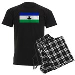 New Lesotho Flag Blank Men's Dark Pajamas