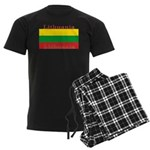 Lithuania Lithuanian Flag Men's Dark Pajamas