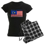 Malaysia Malaysian Flag Women's Dark Pajamas