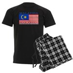 Malaysia Malaysian Flag Men's Dark Pajamas