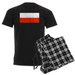 Poland Polish Blank Flag Men's Dark Pajamas