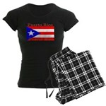 Puerto Rico Rican Flag Women's Dark Pajamas