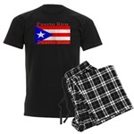 Puerto Rico Rican Flag Men's Dark Pajamas