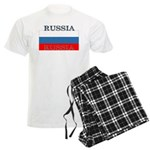 Russia Russian Flag Men's Light Pajamas