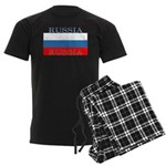 Russia Russian Flag Men's Dark Pajamas