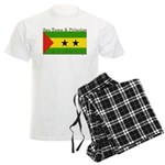 Sao Tome & Principe Men's Light Pajamas