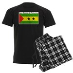 Sao Tome & Principe Men's Dark Pajamas