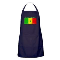 Senegal Senegalese Flag Apron (dark)