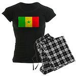 Senegal Blank Flag Women's Dark Pajamas