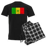 Senegal Blank Flag Men's Dark Pajamas