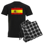 Spain Spanish Flag Men's Dark Pajamas