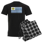 Uruguay Blank Flag Men's Dark Pajamas