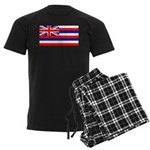 Hawaii Hawaiian Blank Flag Men's Dark Pajamas