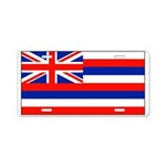 Hawaii Hawaiian Blank Flag Aluminum License Plate