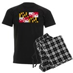 Maryland Blank Flag Men's Dark Pajamas