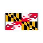 Maryland Blank Flag Aluminum License Plate