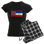 Mississippi State Flag Women's Dark Pajamas