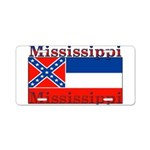 Mississippi State Flag Aluminum License Plate