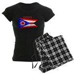 Ohio State Flag Women's Dark Pajamas