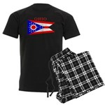 Ohio State Flag Men's Dark Pajamas