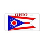 Ohio State Flag Aluminum License Plate