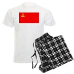 USSR Blank Flag Men's Light Pajamas