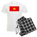 Vietnam Vietnamese Blank Flag Men's Light Pajamas