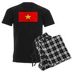 Vietnam Vietnamese Blank Flag Men's Dark Pajamas