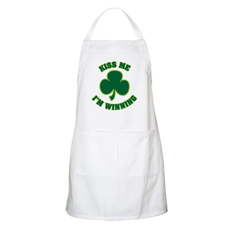 Kiss Me I'm Winning Apron