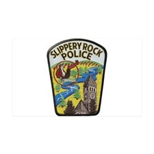 Slippery Rock Police 38.5 x 24.5 Wall Peel