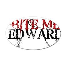 Bite Me Edward 2 38.5 x 24.5 Oval Wall Peel