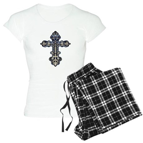Ornate Cross Women's Light Pajamas