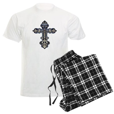 Ornate Cross Men's Light Pajamas