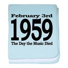 1959 - The Day the Music Died baby blanket