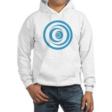 Hooded sweatshirt with crop circle