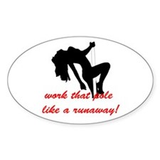 Stripper Pole Decal