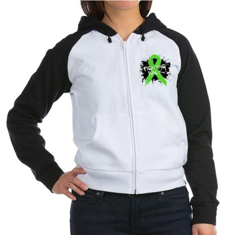 Fighting Back Non-Hodgkins Women's Raglan Hoodie