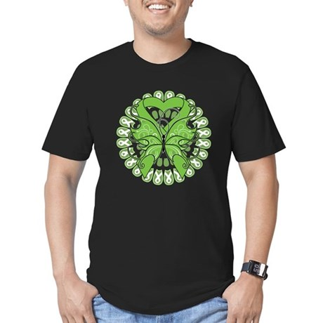 Non-Hodgkins Butterfly Men's Fitted T-Shirt (dark)