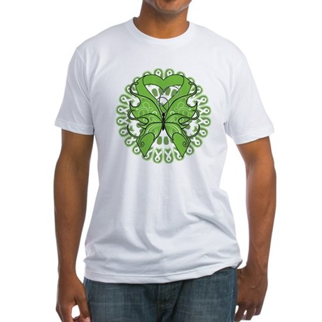 Non-Hodgkins Butterfly Fitted T-Shirt