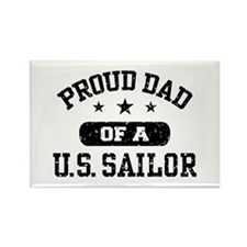 Proud Dad of a US Sailor Rectangle Magnet