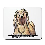 2006 Braided Lhasa Apso Mousepad