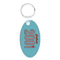 "Gottlieb® ""2001"" Aluminum Oval Keychain"