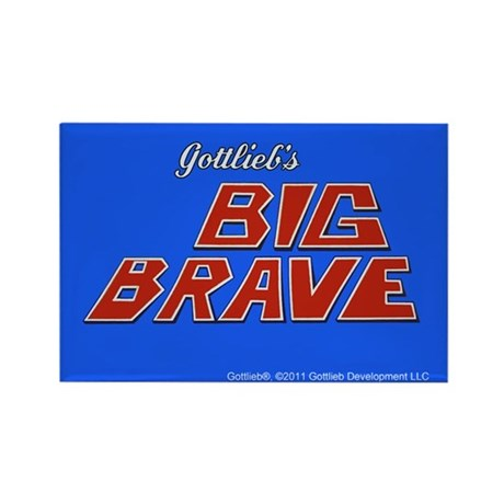 Gottlieb&reg; &quot;Big Brave&quot; Rectangle Magnet