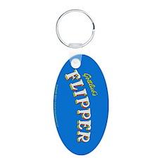 "Gottlieb® ""Flipper"" Aluminum Oval Keychain"